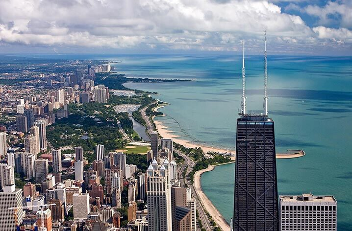 chicago 360 view - john hancock observatory